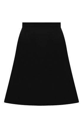 Женская шерстяная юбка ALEXANDER MCQUEEN черного цвета, арт. 675725/QJACA | Фото 1 (Материал подклада: Синтетический материал; Длина Ж (юбки, платья, шорты): Мини; Материал внешний: Шерсть; Стили: Кэжуэл; Женское Кросс-КТ: Юбка-одежда)