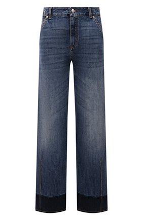 Женские джинсы ALEXANDER MCQUEEN синего цвета, арт. 672211/QMABJ | Фото 1 (Длина (брюки, джинсы): Стандартные; Материал внешний: Хлопок; Стили: Кэжуэл; Кросс-КТ: Деним; Силуэт Ж (брюки и джинсы): Прямые)