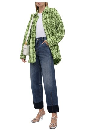 Женские джинсы ALEXANDER MCQUEEN синего цвета, арт. 672211/QMABJ | Фото 2 (Длина (брюки, джинсы): Стандартные; Материал внешний: Хлопок; Стили: Кэжуэл; Кросс-КТ: Деним; Силуэт Ж (брюки и джинсы): Прямые)