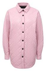 Женская куртка из экокожи MSGM розового цвета, арт. 3141MDH13 217616 | Фото 1 (Длина (верхняя одежда): До середины бедра; Материал внешний: Синтетический материал; Материал подклада: Синтетический материал; Рукава: Длинные; Стили: Спорт-шик; Кросс-КТ: Куртка)