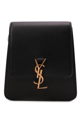 Женская сумка kaia north/south SAINT LAURENT черного цвета, арт. 668809/BWR0W | Фото 1 (Ремень/цепочка: На ремешке; Размер: mini; Материал: Натуральная кожа; Сумки-технические: Сумки через плечо)