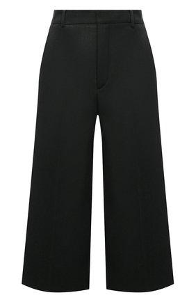 Женские шерстяные шорты-бермуды SAINT LAURENT темно-зеленого цвета, арт. 667906/Y3D35 | Фото 1 (Материал подклада: Шелк; Материал внешний: Шерсть; Длина Ж (юбки, платья, шорты): Миди; Стили: Гламурный; Женское Кросс-КТ: Шорты-одежда; Кросс-КТ: Широкие)