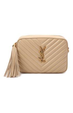 Женская сумка lou medium SAINT LAURENT кремвого цвета, арт. 612544/DV707 | Фото 1 (Материал: Натуральная кожа; Размер: medium; Сумки-технические: Сумки через плечо; Ремень/цепочка: На ремешке)