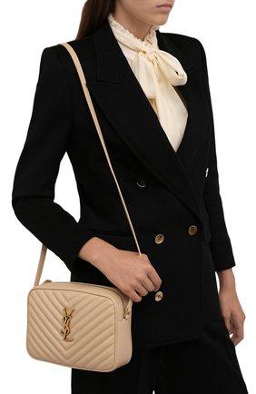 Женская сумка lou medium SAINT LAURENT кремвого цвета, арт. 612544/DV707 | Фото 2 (Материал: Натуральная кожа; Размер: medium; Сумки-технические: Сумки через плечо; Ремень/цепочка: На ремешке)