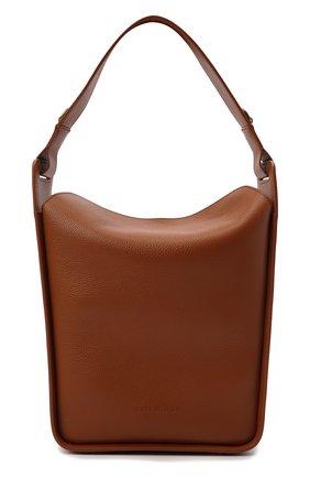 Женская сумка tool BALENCIAGA коричневого цвета, арт. 659920/15YGY | Фото 1 (Материал: Натуральная кожа; Размер: medium; Сумки-технические: Сумки top-handle; Ремень/цепочка: На ремешке; Ошибки технического описания: Нет ширины)