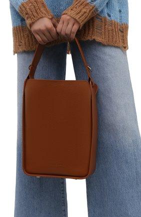 Женская сумка tool BALENCIAGA коричневого цвета, арт. 659920/15YGY | Фото 2 (Материал: Натуральная кожа; Размер: medium; Сумки-технические: Сумки top-handle; Ремень/цепочка: На ремешке; Ошибки технического описания: Нет ширины)