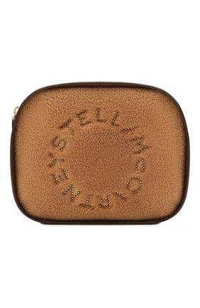Женская сумка stella logo mini STELLA MCCARTNEY светло-коричневого цвета, арт. 700266/W8837 | Фото 1 (Размер: mini; Ремень/цепочка: На ремешке; Материал: Текстиль; Сумки-технические: Сумки через плечо)
