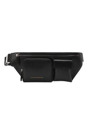 Женская поясная сумка STELLA MCCARTNEY черного цвета, арт. 700239/W8841 | Фото 1 (Материал: Текстиль, Экокожа; Размер: large; Стили: Кэжуэл)