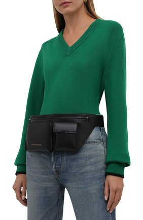 Женская поясная сумка STELLA MCCARTNEY черного цвета, арт. 700239/W8841 | Фото 2 (Материал: Текстиль, Экокожа; Размер: large; Стили: Кэжуэл)
