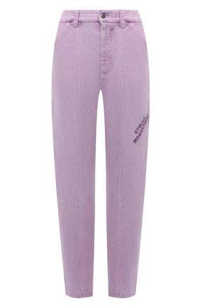 Женские джинсы STELLA MCCARTNEY сиреневого цвета, арт. 603003/S0H49 | Фото 1 (Материал внешний: Хлопок; Длина (брюки, джинсы): Стандартные; Стили: Спорт-шик; Кросс-КТ: Деним; Силуэт Ж (брюки и джинсы): Прямые)