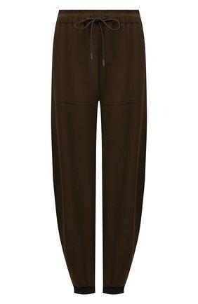 Женские джоггеры из вискозы CHLOÉ темно-коричневого цвета, арт. CHC21APA51039 | Фото 1 (Длина (брюки, джинсы): Стандартные; Материал внешний: Вискоза; Стили: Спорт-шик; Женское Кросс-КТ: Джоггеры - брюки; Силуэт Ж (брюки и джинсы): Джоггеры)
