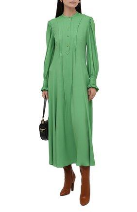 Платье из вискозы и шелка | Фото №2
