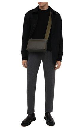Мужские хлопковые брюки RALPH LAUREN серого цвета, арт. 798846767 | Фото 2 (Длина (брюки, джинсы): Стандартные; Материал внешний: Хлопок; Случай: Повседневный; Стили: Кэжуэл)