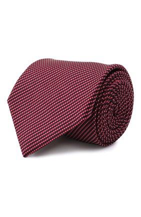 Мужской шелковый галстук BRIONI красного цвета, арт. 062I00/01461   Фото 1 (Материал: Текстиль, Шелк; Принт: С принтом)