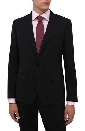 Мужской шелковый галстук BRIONI красного цвета, арт. 062I00/01461   Фото 2 (Материал: Текстиль, Шелк; Принт: С принтом)