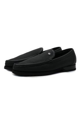 Мужские кожаные лоферы ZILLI черного цвета, арт. MDW-M047/0A2 | Фото 1 (Материал утеплителя: Натуральный мех; Стили: Кэжуэл; Мужское Кросс-КТ: Лоферы-обувь)