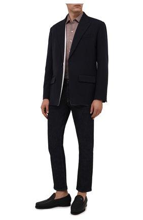 Мужские кожаные лоферы ZILLI черного цвета, арт. MDW-M047/0A2 | Фото 2 (Материал утеплителя: Натуральный мех; Стили: Кэжуэл; Мужское Кросс-КТ: Лоферы-обувь)
