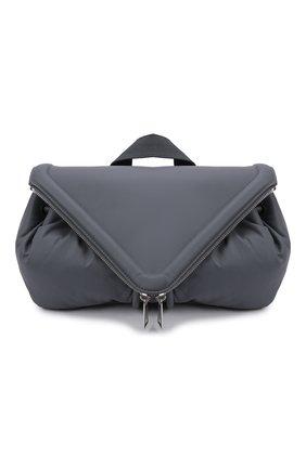 Мужская кожаная поясная сумка beak BOTTEGA VENETA серого цвета, арт. 659419/VA9VD   Фото 1 (Материал: Натуральная кожа)