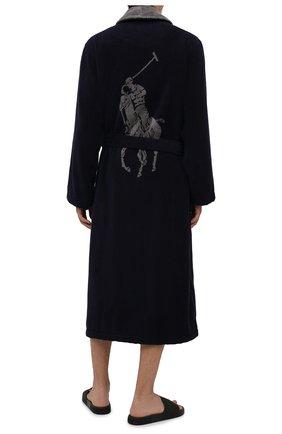 Мужской хлопковый халат POLO RALPH LAUREN темно-синего цвета, арт. 714854533 | Фото 2 (Длина (верхняя одежда): Длинные; Материал внешний: Хлопок; Рукава: Длинные; Кросс-КТ: домашняя одежда)