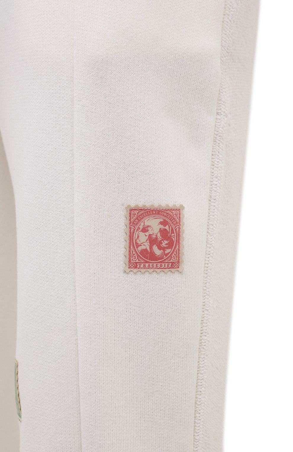 Мужские хлопковые джоггеры TEE LIBRARY кремвого цвета, арт. TFK-JP-44 | Фото 5 (Мужское Кросс-КТ: Брюки-трикотаж; Длина (брюки, джинсы): Стандартные; Кросс-КТ: Спорт; Материал внешний: Хлопок; Стили: Спорт-шик; Силуэт М (брюки): Джоггеры)