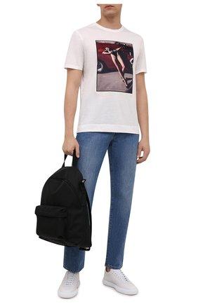 Мужская хлопковая футболка LIMITATO белого цвета, арт. NUMBER 2/T-SHIRT | Фото 2 (Материал внешний: Хлопок; Принт: С принтом; Длина (для топов): Стандартные; Рукава: Короткие; Стили: Гранж)