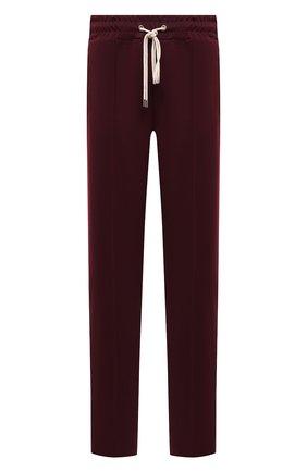 Мужские брюки DOMREBEL бордового цвета, арт. MPLEATED/TRACK PANTS | Фото 1 (Длина (брюки, джинсы): Стандартные; Материал внешний: Синтетический материал; Случай: Повседневный; Стили: Спорт-шик)
