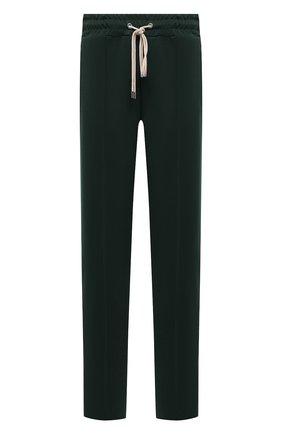 Мужские брюки DOMREBEL зеленого цвета, арт. MPLEATED/TRACK PANTS | Фото 1 (Материал внешний: Синтетический материал; Длина (брюки, джинсы): Стандартные; Случай: Повседневный; Стили: Спорт-шик)