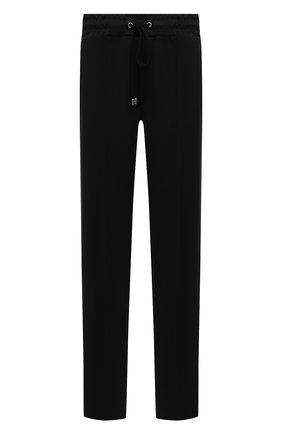 Мужские брюки DOMREBEL черного цвета, арт. MPLEATED/TRACK PANTS | Фото 1 (Длина (брюки, джинсы): Стандартные; Материал внешний: Синтетический материал; Случай: Повседневный; Стили: Спорт-шик)