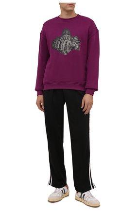 Мужские брюки DOMREBEL черного цвета, арт. MPLEATED/TRACK PANTS | Фото 2 (Длина (брюки, джинсы): Стандартные; Материал внешний: Синтетический материал; Случай: Повседневный; Стили: Спорт-шик)