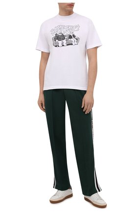 Мужская хлопковая футболка DOMREBEL белого цвета, арт. MC0UCH/B0X T | Фото 2 (Рукава: Короткие; Материал внешний: Хлопок; Длина (для топов): Стандартные; Принт: С принтом; Стили: Гранж)