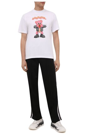 Мужская хлопковая футболка DOMREBEL белого цвета, арт. MBLAH/B0X T | Фото 2 (Длина (для топов): Стандартные; Материал внешний: Хлопок; Рукава: Короткие; Принт: С принтом; Стили: Гранж)