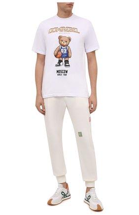 Мужская хлопковая футболка DOMREBEL белого цвета, арт. MBEARBALL/B0X T | Фото 2 (Материал внешний: Хлопок; Рукава: Короткие; Длина (для топов): Стандартные; Принт: С принтом; Стили: Гранж)