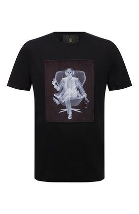 Мужская хлопковая футболка LIMITATO черного цвета, арт. EASY LISTENER/T-SHIRT | Фото 1 (Материал внешний: Хлопок; Длина (для топов): Стандартные; Рукава: Короткие; Принт: С принтом; Стили: Гранж)