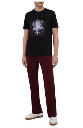 Мужская хлопковая футболка LIMITATO черного цвета, арт. EASY LISTENER/T-SHIRT | Фото 2 (Материал внешний: Хлопок; Длина (для топов): Стандартные; Рукава: Короткие; Принт: С принтом; Стили: Гранж)