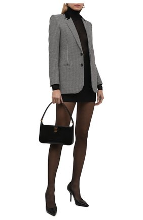 Женские кожаные туфли aubri 100 BURBERRY черного цвета, арт. 8041940 | Фото 2 (Подошва: Плоская; Каблук высота: Высокий; Материал внутренний: Натуральная кожа; Каблук тип: Шпилька)
