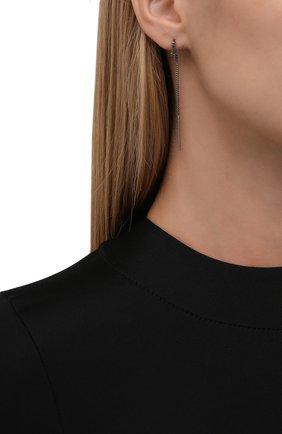 Женские серьги virtus VERSACE темно-серого цвета, арт. 1001436/1A00620   Фото 2 (Материал: Металл)