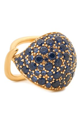 Женское кольцо BOTTEGA VENETA синего цвета, арт. 665756/VX821   Фото 1 (Материал: Серебро)
