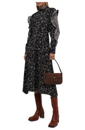 Женские кожаные ботильоны abril MIISTA коричневого цвета, арт. MI_2978 | Фото 2 (Каблук высота: Высокий; Подошва: Платформа; Материал внутренний: Натуральная кожа; Каблук тип: Устойчивый)
