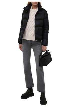 Женская пуховая куртка lannic MONCLER черного цвета, арт. G2-093-1A001-35-5396Q   Фото 2 (Материал утеплителя: Пух и перо; Материал подклада: Синтетический материал; Материал внешний: Синтетический материал; Стили: Спорт-шик; Кросс-КТ: Куртка; Женское Кросс-КТ: Пуховик-куртка; Рукава: Длинные; Длина (верхняя одежда): Короткие)