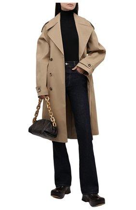 Женские кожаные сабо wedge BOTTEGA VENETA темно-коричневого цвета, арт. 667212/V1000 | Фото 2 (Материал внутренний: Натуральная кожа; Подошва: Платформа; Каблук высота: Высокий; Каблук тип: Устойчивый)