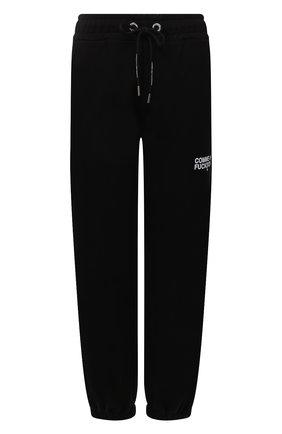 Женские хлопковые джоггеры COMME DES FUCKDOWN черного цвета, арт. CDFD1530 | Фото 1 (Материал внешний: Хлопок; Длина (брюки, джинсы): Стандартные; Стили: Спорт-шик; Женское Кросс-КТ: Джоггеры - брюки, Брюки-спорт; Силуэт Ж (брюки и джинсы): Джоггеры)