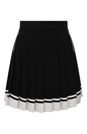 Женская юбка BALMAIN черного цвета, арт. WF1LB205/V089   Фото 1 (Материал внешний: Вискоза; Длина Ж (юбки, платья, шорты): Мини; Стили: Гламурный; Женское Кросс-КТ: юбка-плиссе)