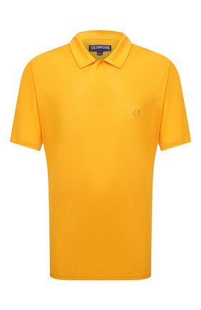 Мужское льняное поло VILEBREQUIN желтого цвета, арт. PYRE9O00/118 | Фото 1 (Материал внешний: Лен; Длина (для топов): Удлиненные; Рукава: Короткие; Застежка: Пуговицы; Стили: Кэжуэл)