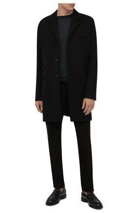 Мужские хлопковые брюки CORNELIANI коричневого цвета, арт. 884B01-1818502/02 | Фото 2 (Длина (брюки, джинсы): Стандартные; Материал внешний: Хлопок; Случай: Повседневный; Стили: Кэжуэл)
