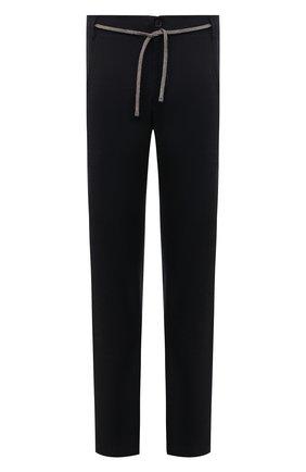 Мужские шерстяные брюки CANALI темно-синего цвета, арт. V1659/AR03474/60-64 | Фото 1 (Материал внешний: Шерсть; Длина (брюки, джинсы): Стандартные; Случай: Повседневный; Стили: Кэжуэл; Big sizes: Big Sizes)