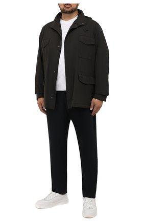 Мужские шерстяные брюки CANALI темно-синего цвета, арт. V1659/AR03474/60-64   Фото 2 (Материал внешний: Шерсть; Длина (брюки, джинсы): Стандартные; Случай: Повседневный; Стили: Кэжуэл; Big sizes: Big Sizes)