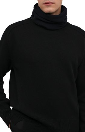 Мужской кашемировый шарф-снуд MOORER темно-синего цвета, арт. SCALDAC0LL0 BIC0L0RE-CWS/M0USC100001-TEPA177 | Фото 2 (Материал: Шерсть, Кашемир; Кросс-КТ: кашемир)