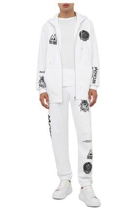 Мужской хлопковая толстовка 2 moncler 1952 MONCLER GENIUS белого цвета, арт. G2-092-8G000-03-809KX | Фото 2 (Длина (для топов): Удлиненные; Рукава: Длинные; Материал внешний: Хлопок; Мужское Кросс-КТ: Толстовка-одежда; Стили: Спорт-шик)
