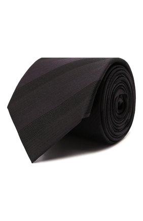Мужской шелковый галстук LANVIN коричневого цвета, арт. 3218/TIE   Фото 1 (Материал: Текстиль, Шелк; Принт: С принтом)