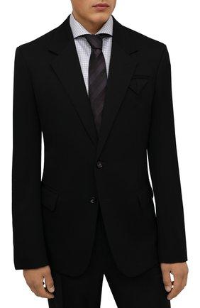 Мужской шелковый галстук LANVIN коричневого цвета, арт. 3218/TIE   Фото 2 (Материал: Текстиль, Шелк; Принт: С принтом)